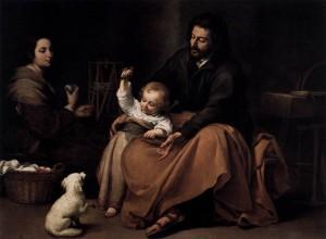 Sagrada Familia con un pajarito